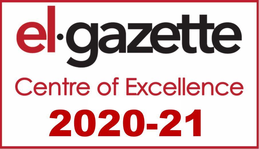 Centre of Excellence EL Gazette 2020-2021 logo